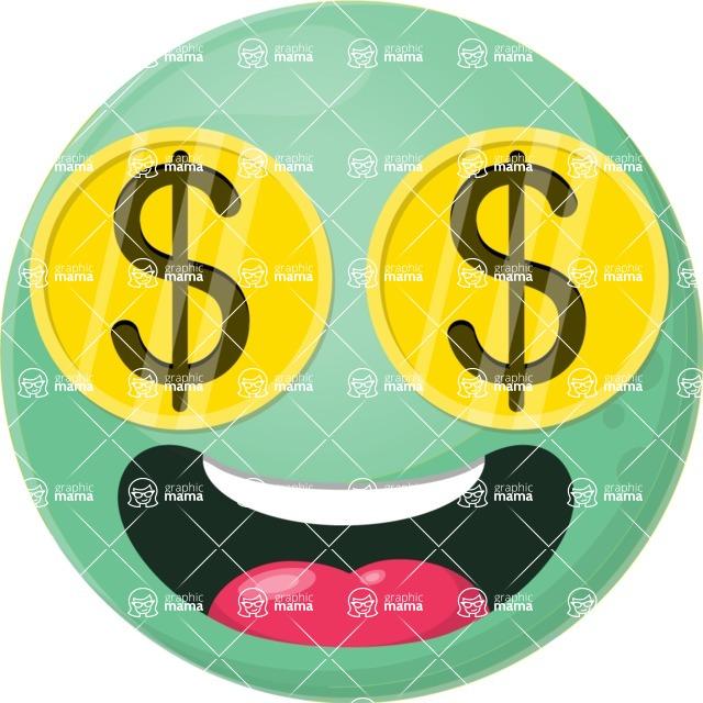 Vector Emoji Creator - The Crazy Money Emoji
