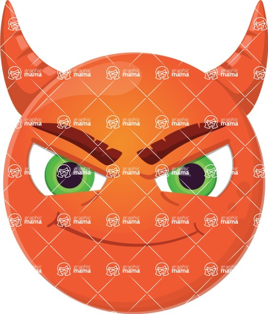 Vector Emoji Creator - The Cute Evil Devil Emoji