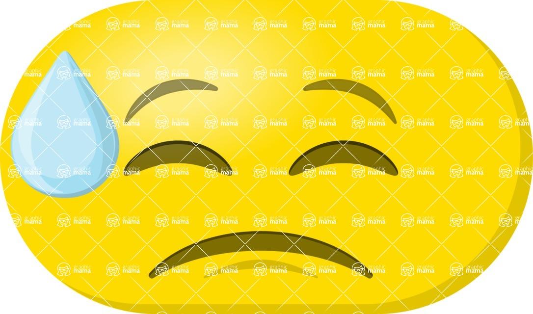 Vector Emoji Creator - The Stressed Out Emoji