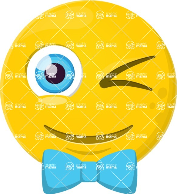 Vector Emoji Creator - The Stylish Winking Emoji