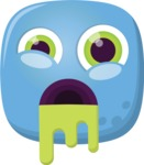 Vector Emoji Creator - The Cute Zombi Emoji