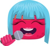 Vector Emoji Creator - Lady Pop Star