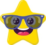 Vector Emoji Creator - The Hipster Star Emoji