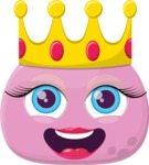 Vector Emoji Creator - The Pink Princess Emoji