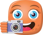 Vector Emoji Creator - The Enthusiastic Photographer Emoji