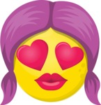 Make Your Own Emoji - The Girl in Love Emoji