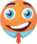 Make Your Own Emoji - Happy Guy Orango