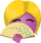 Vector Emoji Creator - The Shy Lady Emoji