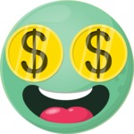 Vector Emoji Creator - The Crazy Money Emoji