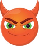Vector Emoji Creator - The Cute Evil Devil Emoji