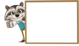 Raccoon Cartoon Vector Character AKA Mr. Coon - Presentation 5