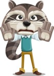 Raccoon Cartoon Vector Character AKA Mr. Coon - Stop 2