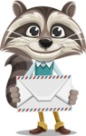 Raccoon Cartoon Vector Character AKA Mr. Coon - Letter