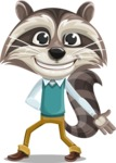 Raccoon Cartoon Vector Character AKA Mr. Coon - Show