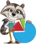 Raccoon Cartoon Vector Character AKA Mr. Coon - Chart