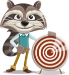 Raccoon Cartoon Vector Character AKA Mr. Coon - Target