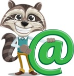 Raccoon Cartoon Vector Character AKA Mr. Coon - Email