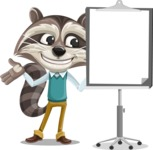 Raccoon Cartoon Vector Character AKA Mr. Coon - Presentation 1