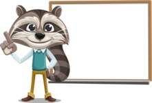 Raccoon Cartoon Vector Character AKA Mr. Coon - Presentation 3