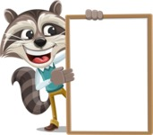 Raccoon Cartoon Vector Character AKA Mr. Coon - Presentation 4