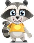 Baby Raccoon Cartoon Vector Character AKA Roony - Normal