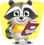 Baby Raccoon Cartoon Vector Character AKA Roony - Shape 6