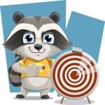 Baby Raccoon Cartoon Vector Character AKA Roony - Shape 7