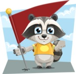 Baby Raccoon Cartoon Vector Character AKA Roony - Shape 9