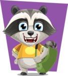 Baby Raccoon Cartoon Vector Character AKA Roony - Shape 11
