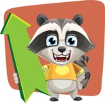 Baby Raccoon Cartoon Vector Character AKA Roony - Shape 12