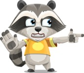 Baby Raccoon Cartoon Vector Character AKA Roony - Direct Attention 2