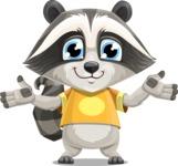 Baby Raccoon Cartoon Vector Character AKA Roony - Sorry