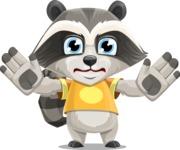 Baby Raccoon Cartoon Vector Character AKA Roony - Stop 2