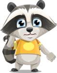 Baby Raccoon Cartoon Vector Character AKA Roony - Confused