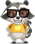 Baby Raccoon Cartoon Vector Character AKA Roony - Sunglasses
