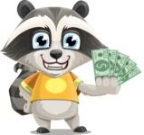 Baby Raccoon Cartoon Vector Character AKA Roony - Show me  the Money