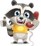 Baby Raccoon Cartoon Vector Character AKA Roony - Support