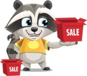 Baby Raccoon Cartoon Vector Character AKA Roony - Sale