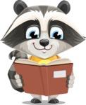 Baby Raccoon Cartoon Vector Character AKA Roony - Book 1