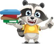 Baby Raccoon Cartoon Vector Character AKA Roony - Book 2