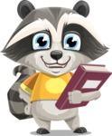 Baby Raccoon Cartoon Vector Character AKA Roony - Book 3