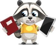 Baby Raccoon Cartoon Vector Character AKA Roony - Book and iPad
