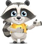 Baby Raccoon Cartoon Vector Character AKA Roony - Showcase