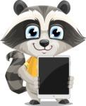 Baby Raccoon Cartoon Vector Character AKA Roony - iPad 1