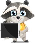 Baby Raccoon Cartoon Vector Character AKA Roony - iPad 2