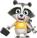 Baby Raccoon Cartoon Vector Character AKA Roony - Briefcase 1