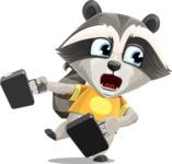 Baby Raccoon Cartoon Vector Character AKA Roony - Briefcase 3