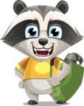 Baby Raccoon Cartoon Vector Character AKA Roony - Travel 2