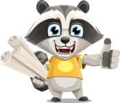 Baby Raccoon Cartoon Vector Character AKA Roony - Plans