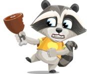 Baby Raccoon Cartoon Vector Character AKA Roony - Meat